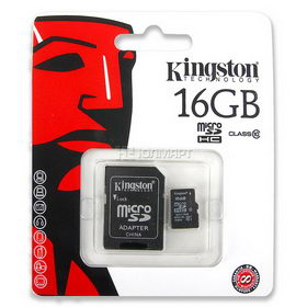 Карта Kingston SDHC MicroSD 10Class 16GB